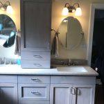 shelfs and mirrors